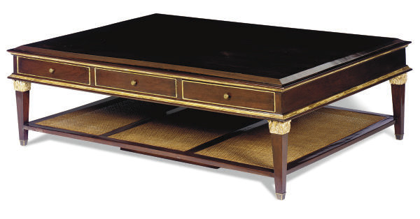 A MAHOGANY, PARCEL-GILT AND CA