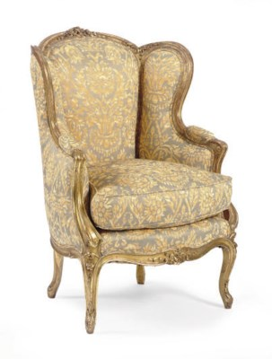A FRENCH GILTWOOD AND PRINTED