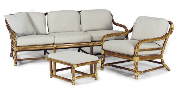 A SUITE OF TWISTED BAMBOO AND