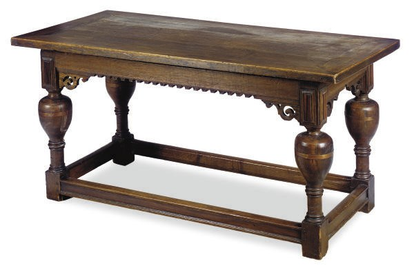 AN ENGLISH OAK REFECTORY TABLE
