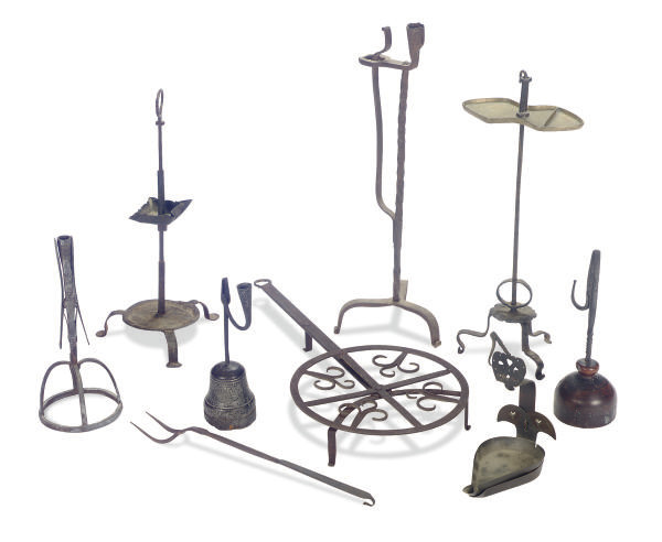 AN ASSORTED GROUP OF WROUGHT I