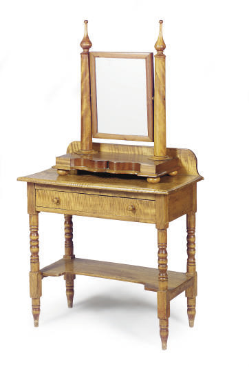 AN AMERICAN MAPLE WASHSTAND,