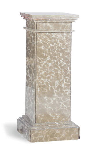 A GREY AND WHITE MARBLE SQUARE