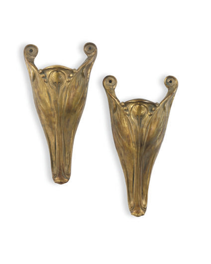 A PAIR OF SPANISH GILT-BRASS S