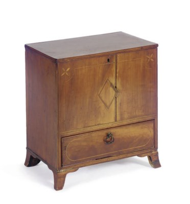AN AMERICAN INLAID CHERRYWOOD