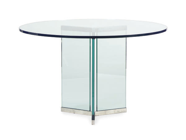 A GLASS AND CHROMED-METAL ROUN