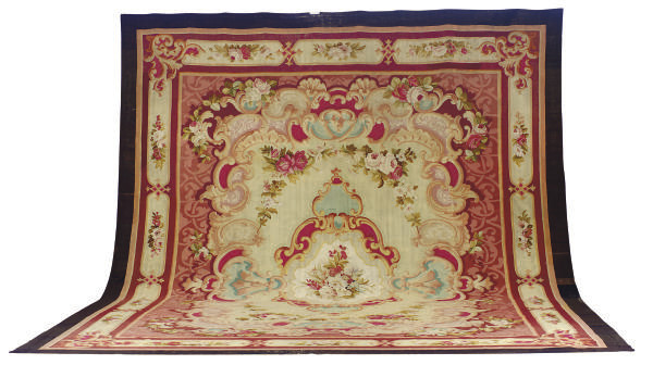 A NAPOLEAN III AUBUSSON CARPET
