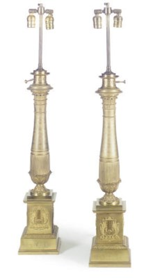 A PAIR OF LOUIS PHILIPPE GILT-
