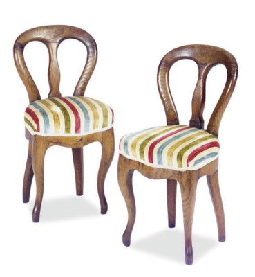 A PAIR OF VICTORIAN OAK SMALL