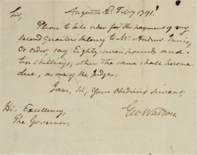 WALTON, George (1749 -1804), S