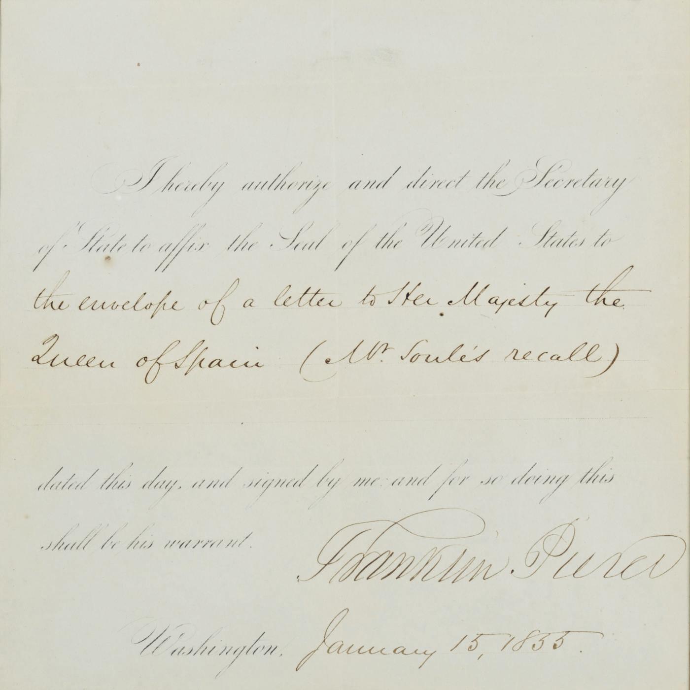 PIERCE, Franklin (1804=1869),