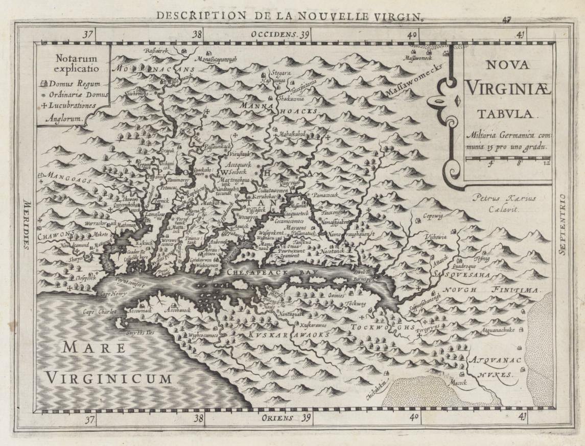 [VIRGINIA]. HONDIUS, Henricus.