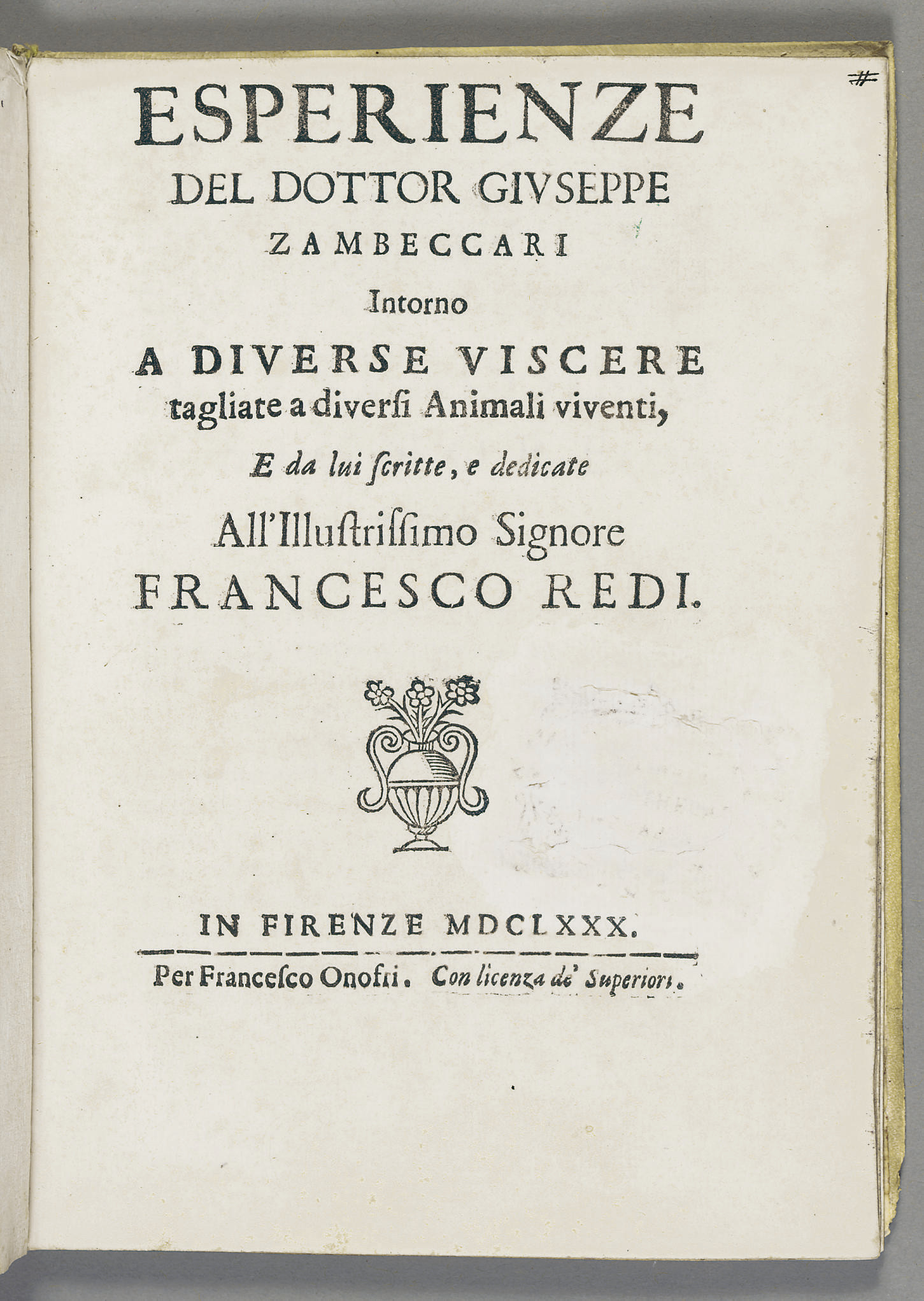ZAMBECCARI, Giuseppe (1655-172