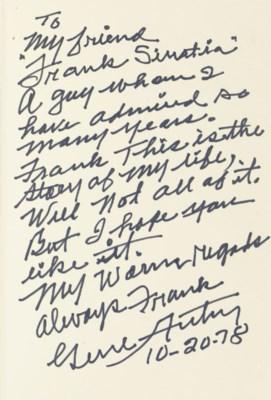 AUTRY, Gene (1907-1998). Back