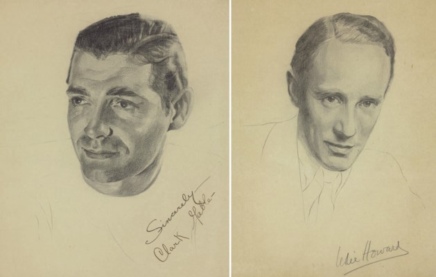 Signed Hollywood Sketches