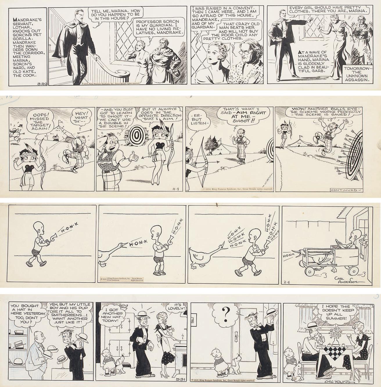 Daily Comic Strips, c. 1930s