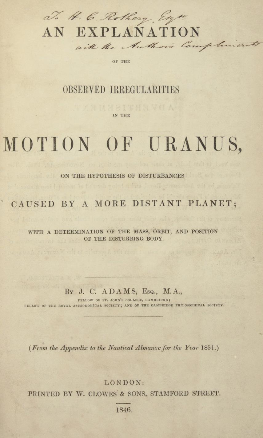 ADAMS, John Crouch (1819-1892)