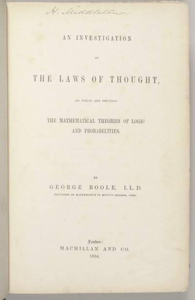 BOOLE, George (1815-1864). An