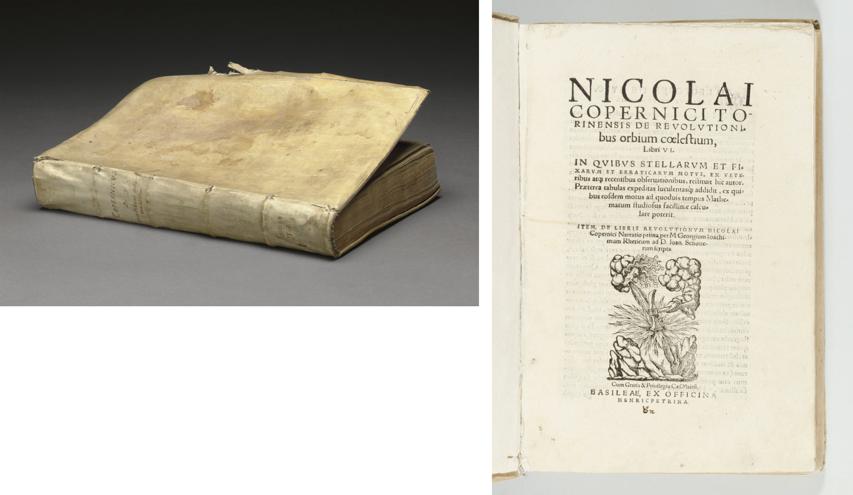 COPERNICUS, Nicolaus (1473-1543). De revolutionibus orbium coelestium. - Georg Johann RHETICUS (1514-1574). De libris revolutionum Nicolai Copernici Narratio prima. Basel: Heinrich Petri, 1566.