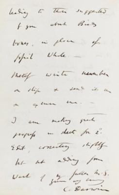 DARWIN, Charles (1809-1882). A
