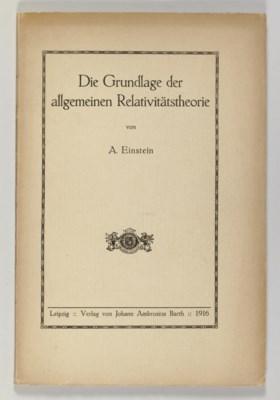 EINSTEIN, Albert. Die Grundlag