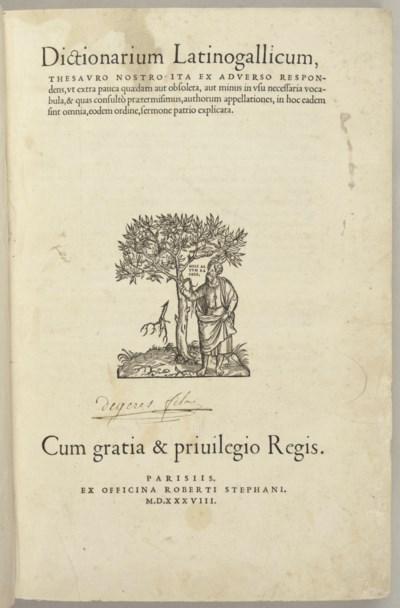 ESTIENNE, Robert (1503-1559).