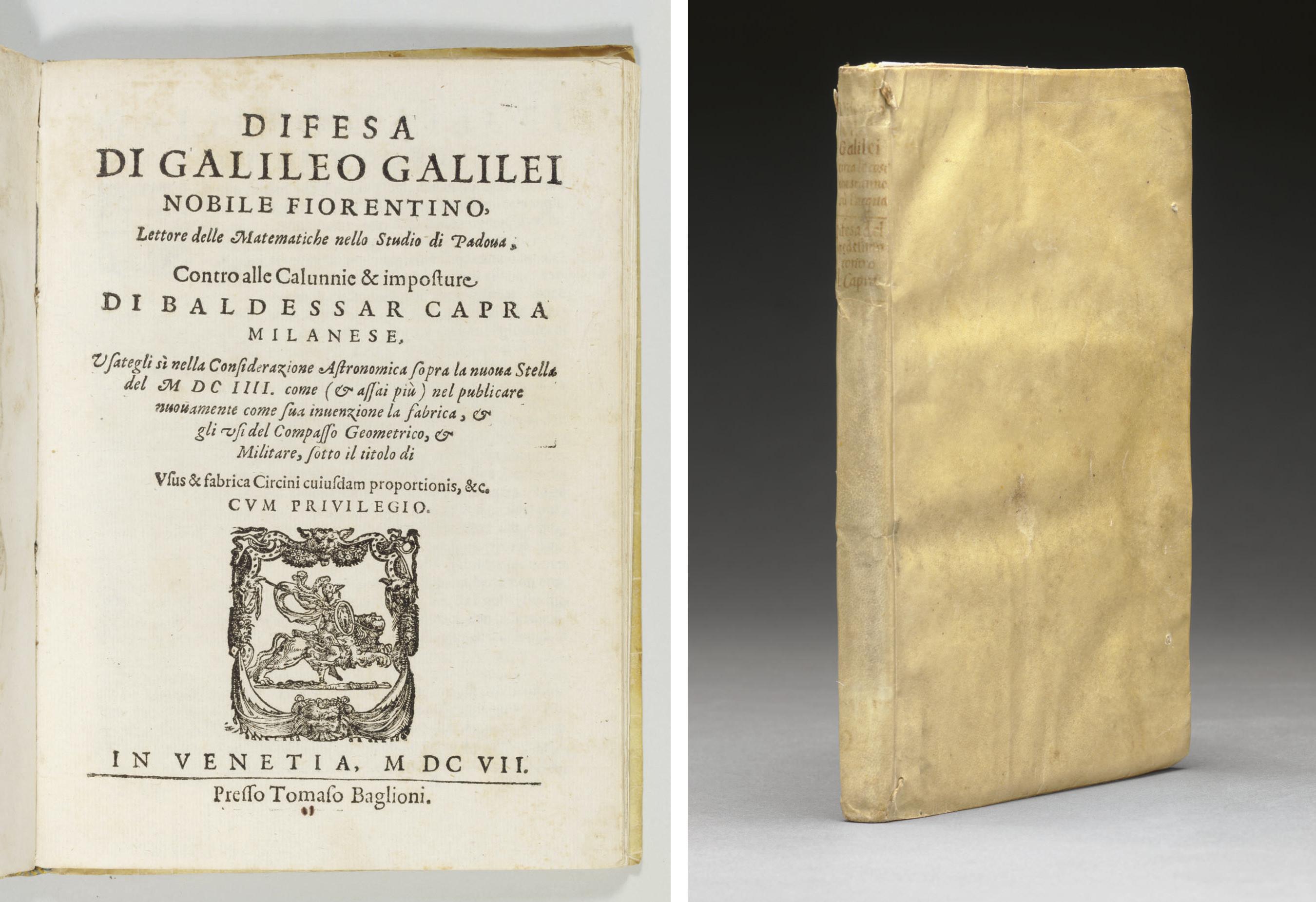 GALILEI, Galileo. Difesa di Ga
