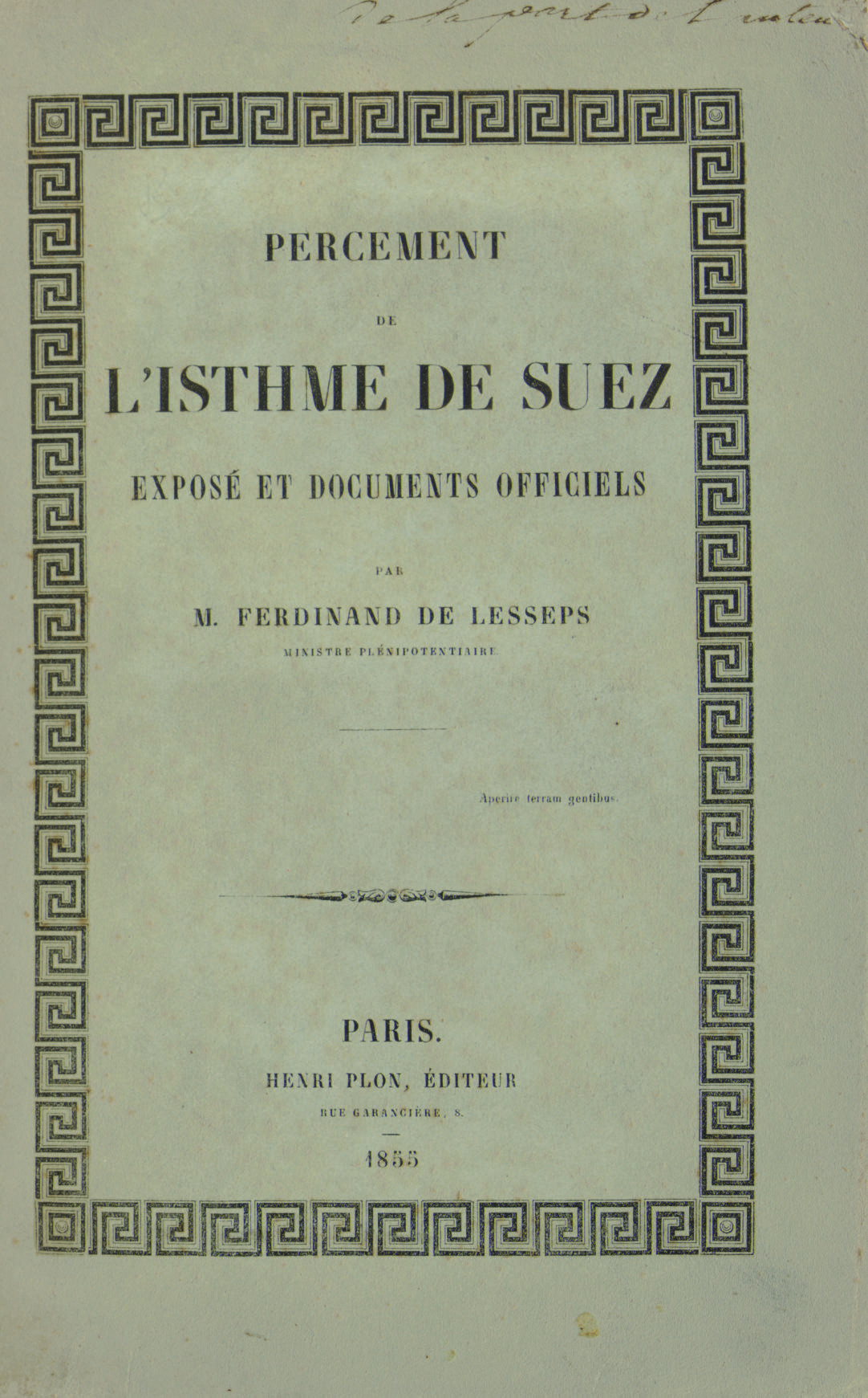 LESSEPS, Ferdinand Marie, vico
