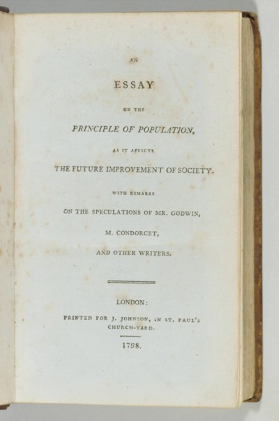 [MALTHUS, Thomas Robert (1766-