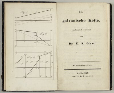 OHM, Georg Simon (1789-1854).
