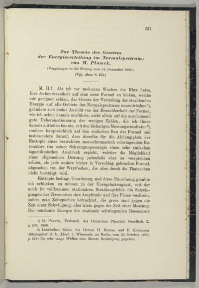 PLANCK, Max (1858-1947).