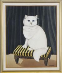 Portrait d'un chat blanc