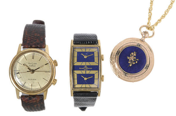 A GROUP OF GOLD WATCHES