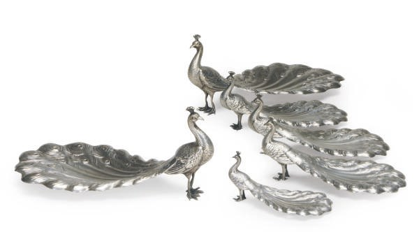 A GROUP OF SIX AMERICAN SILVER