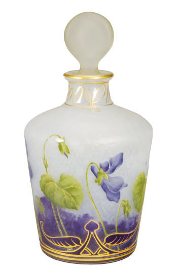 A FRENCH ENAMELED GLASS PERFUM
