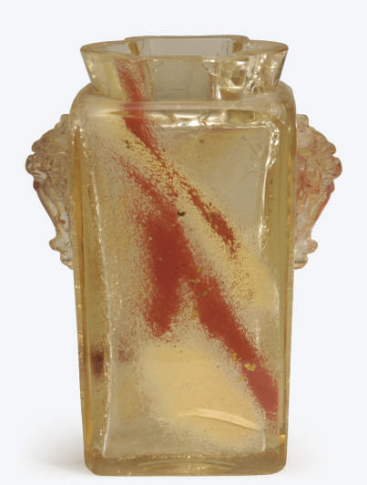 A FRENCH GLASS WITH APPLIED DE