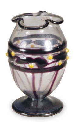 A FRENCH MINIATURE GLASS VASE