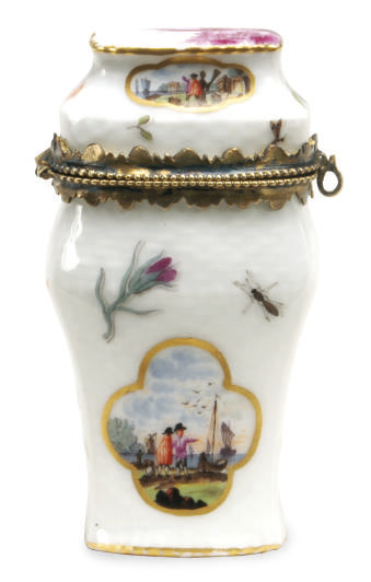 A GILT METAL-MOUNTED MEISSEN P