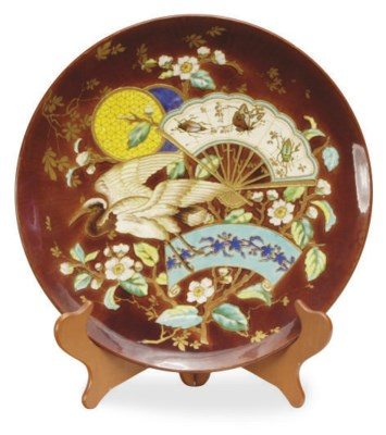 A FRENCH JAPONISM MAJOLICA CHA