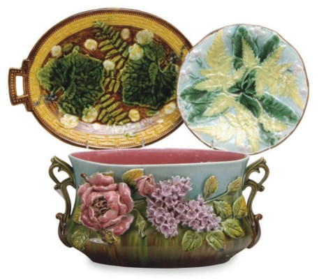 A GROUP OF FRENCH MAJOLICA DES