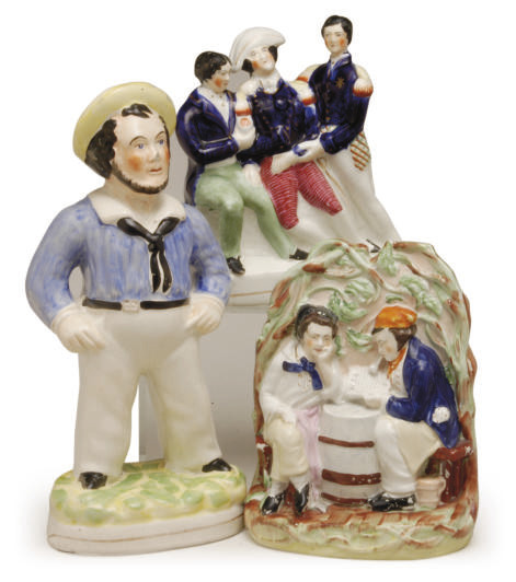 THREE STAFFORDSHIRE FIGURE GRO