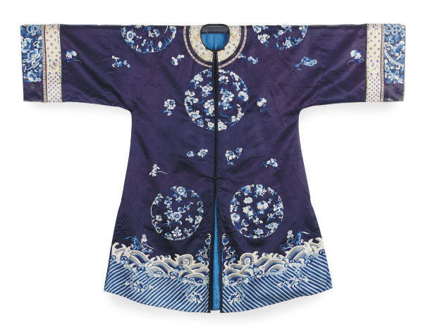 A CHINESE EMBROIDERED SILK DAR