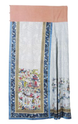 A CHINESE EMBROIDERED SILK PAL