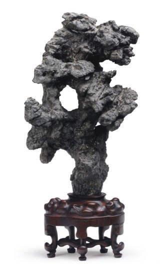 A CHINESE SCHOLAR'S ROCK ON WO