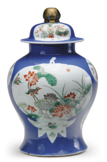 A CHINESE PORCELAIN POWDER BLU