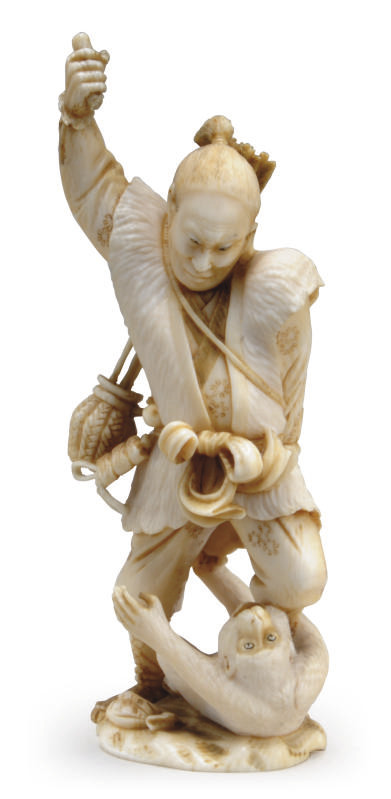 A JAPANESE IVORY MODEL OF A HU
