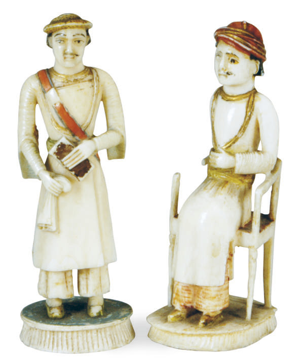 TWO IVORY EUROPEAN SUBJECT CHE