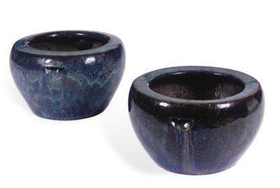 A PAIR OF CHINESE GLAZED CERAM