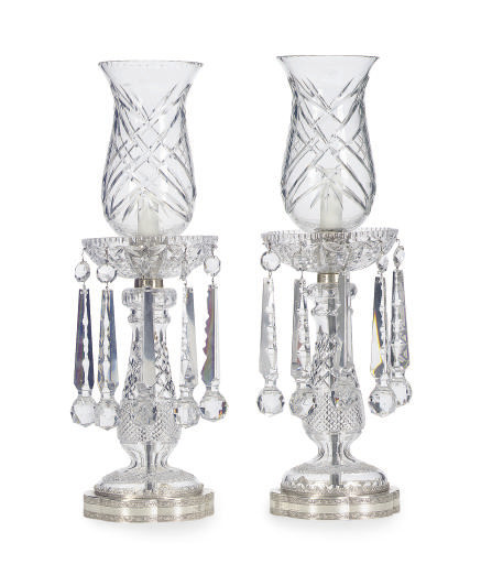 A PAIR OF CHROMED-METAL MOUNTE
