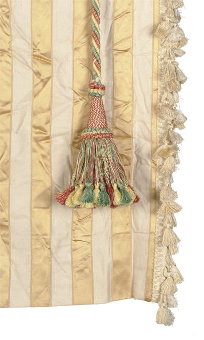 A GROUP OF CURTAIN PANELS,